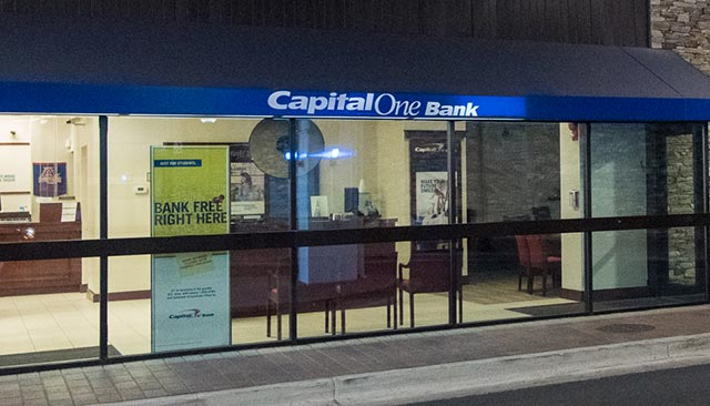The Capital One bank in the Bender Tunnel