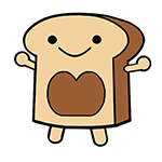 Illustration of smiling slice of bread