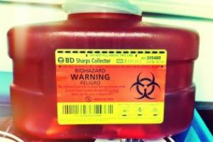 bloodborne pathogens container