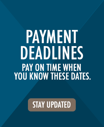 Payment deadlines: pay on time when you know these dates