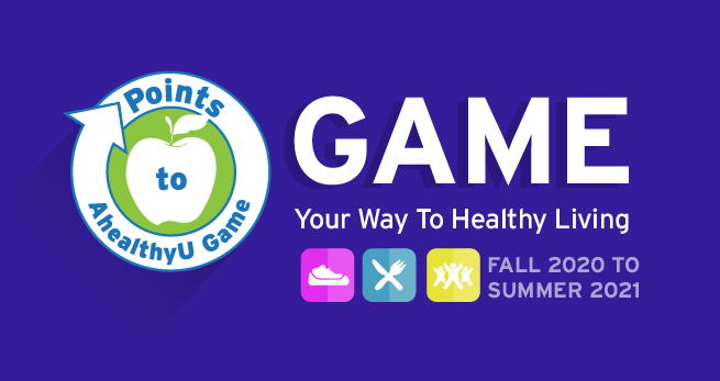 Points to AhealthyU game. Game your way to healthy living.