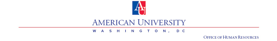 American University Office of Human Resources letterhead