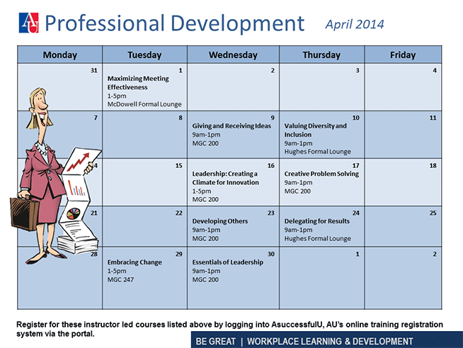 Professional Development April 2014