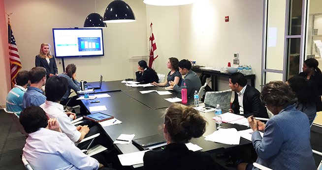 SPExS Students Present for DC Chamber of Commerce