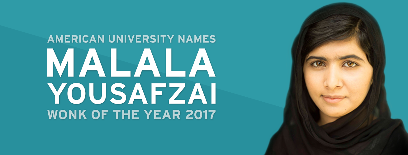 American University names Malala Yousafzai Wonk of the Year 2017