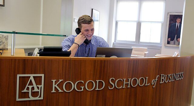 Kogod Front Desk Suppot Staff