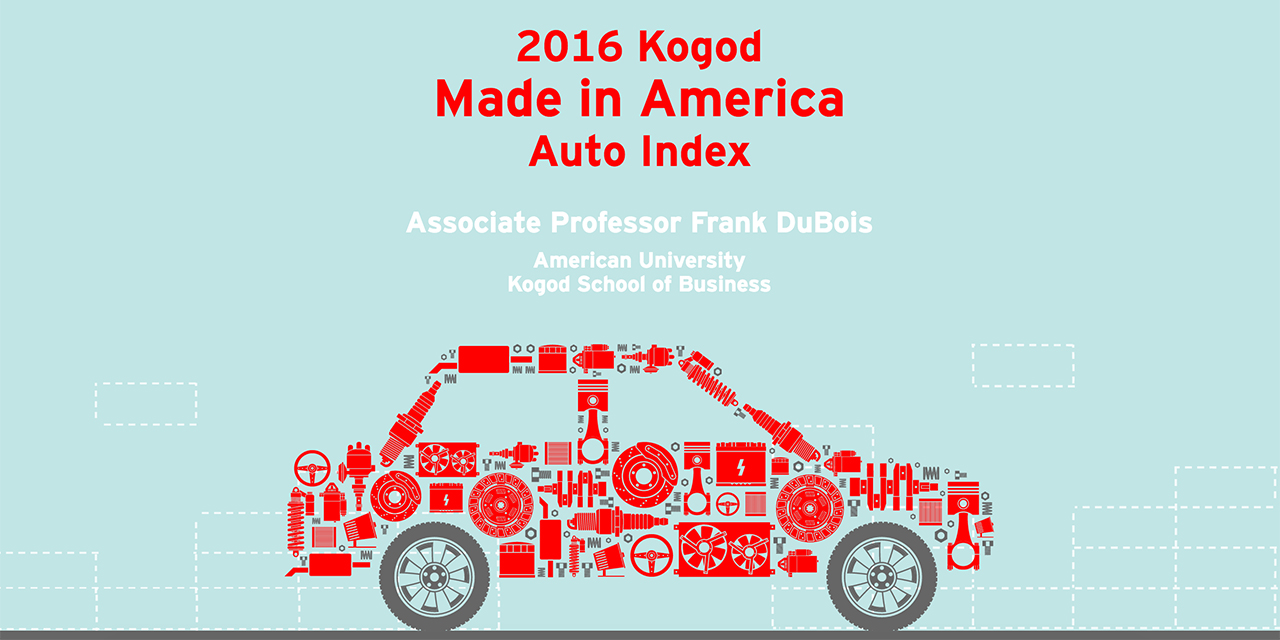 2016 Kogod Made In America Auto Index