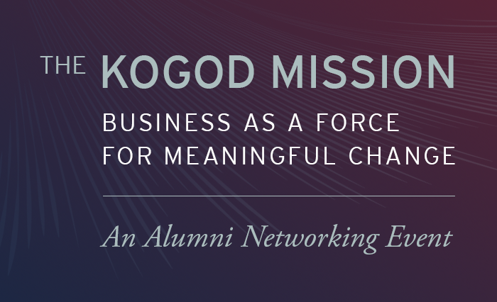 Kogod Meltzer Speaker Series Event header
