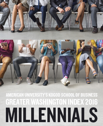 American University's Kogod School of Business Greater Washington Index 2016: Millennials - Front Cover