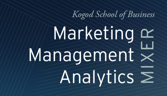 Marketing Management Analytics Mixer Event banner