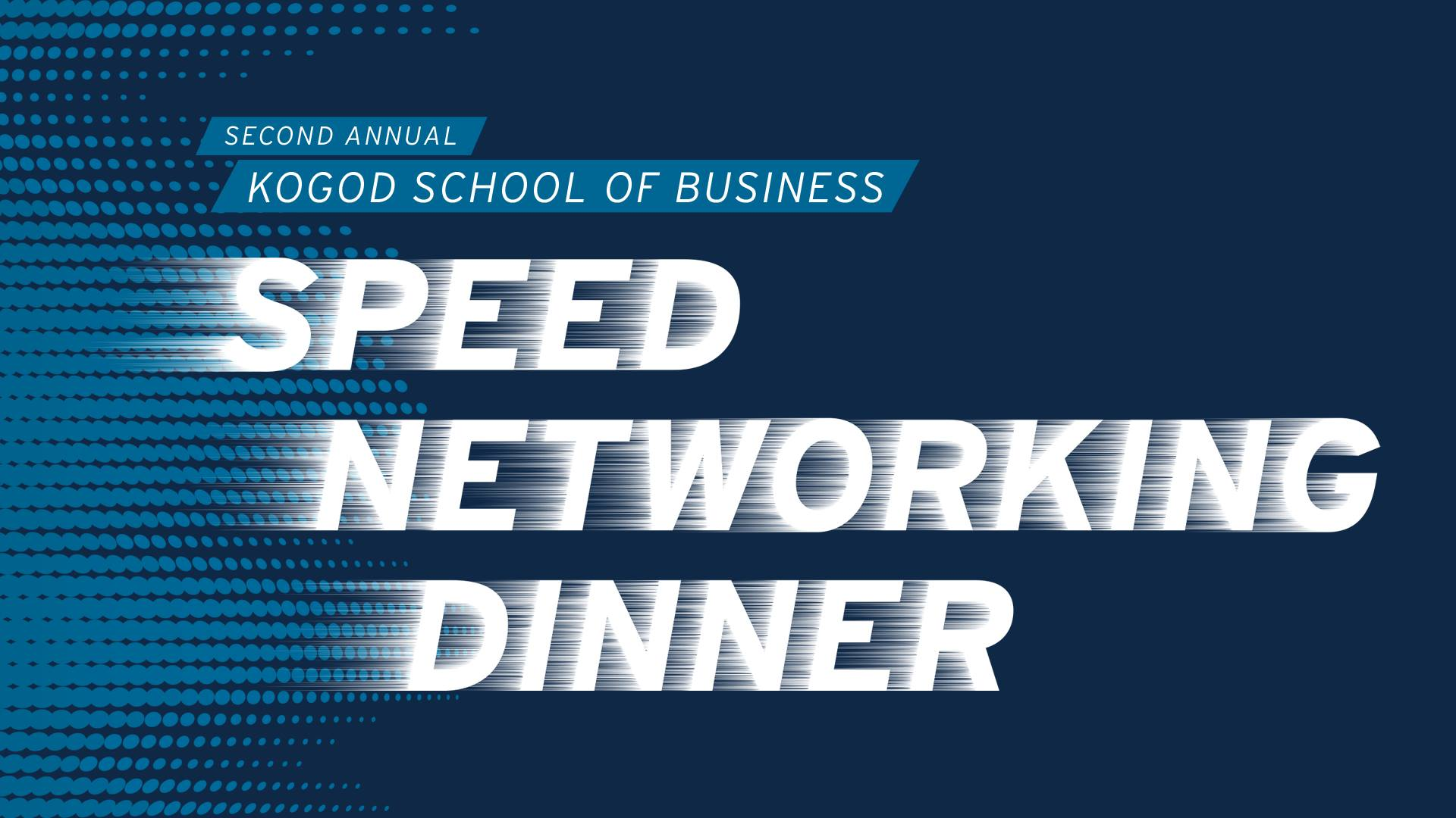Speed Networking Dinner Event