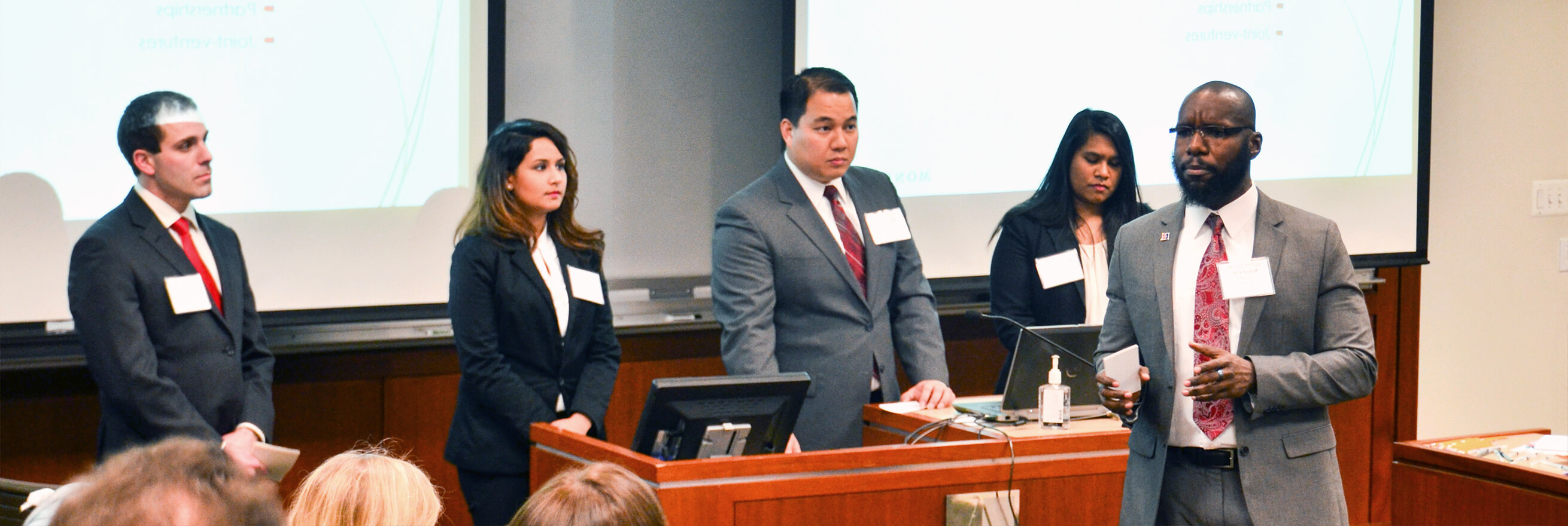 MBA students present during Kogod's Annual Case Competition