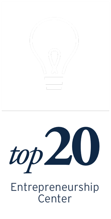 Kogod is ranked Top 20 Entrepreneurship Center.