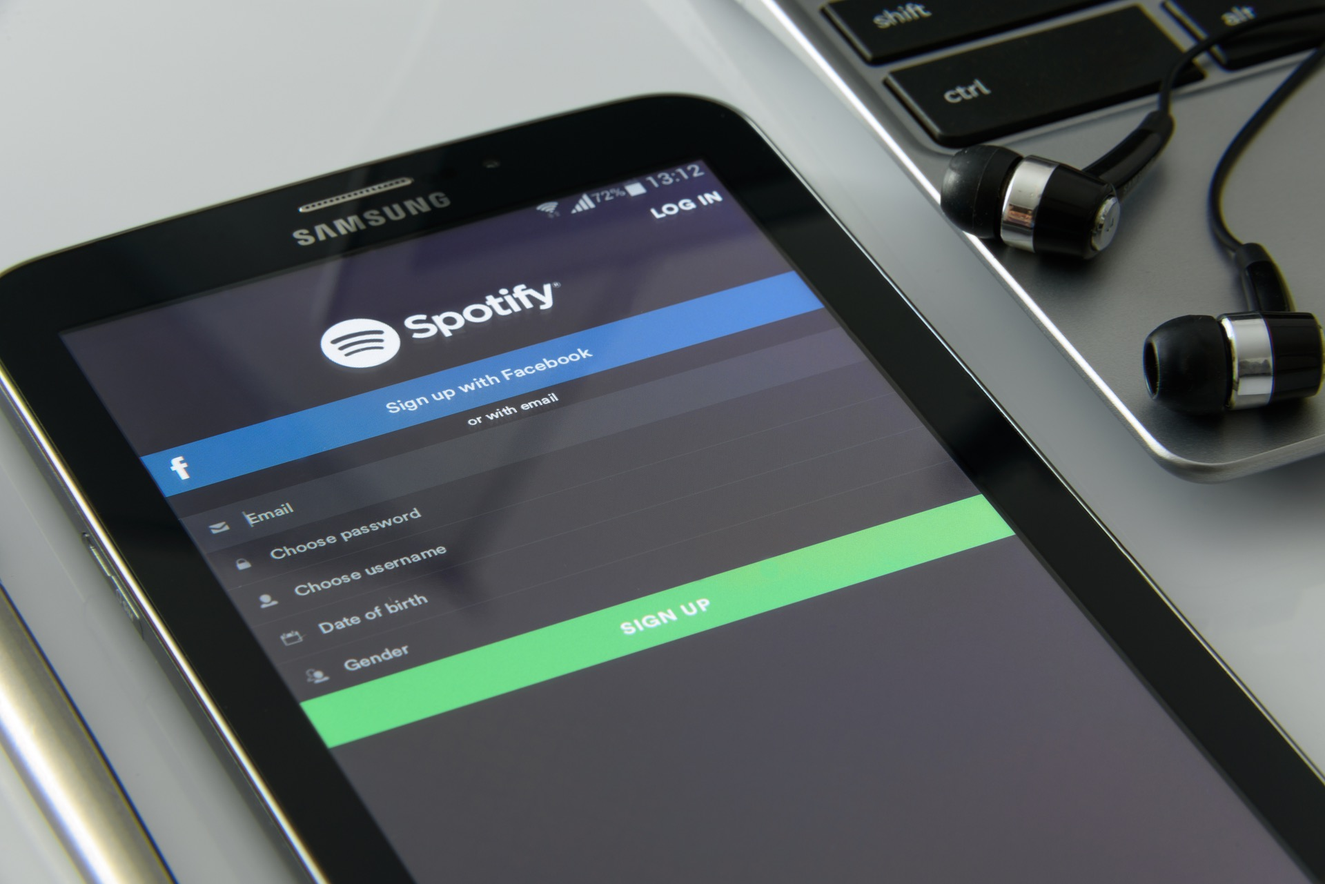 Spotify application on a cellphone