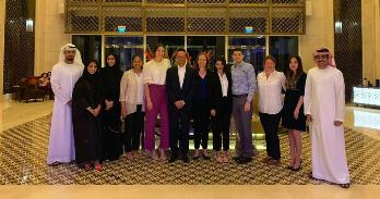 Kogod grad program group visiting consulting clients in UAE