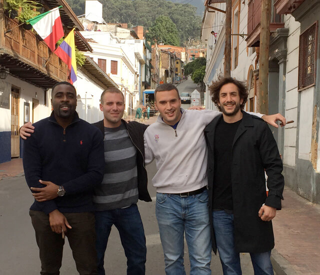 MBA students visiting Colombia for final project.