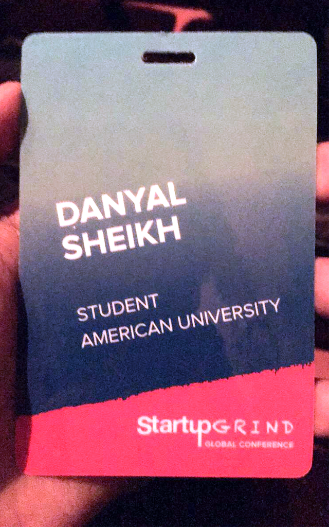 Sheikh had an insider pass to the networking events.