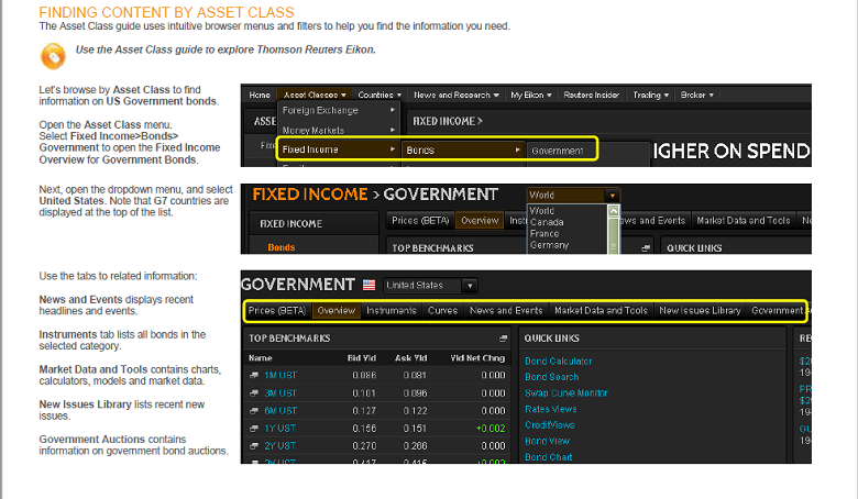 Find by Asset Class Screenshot