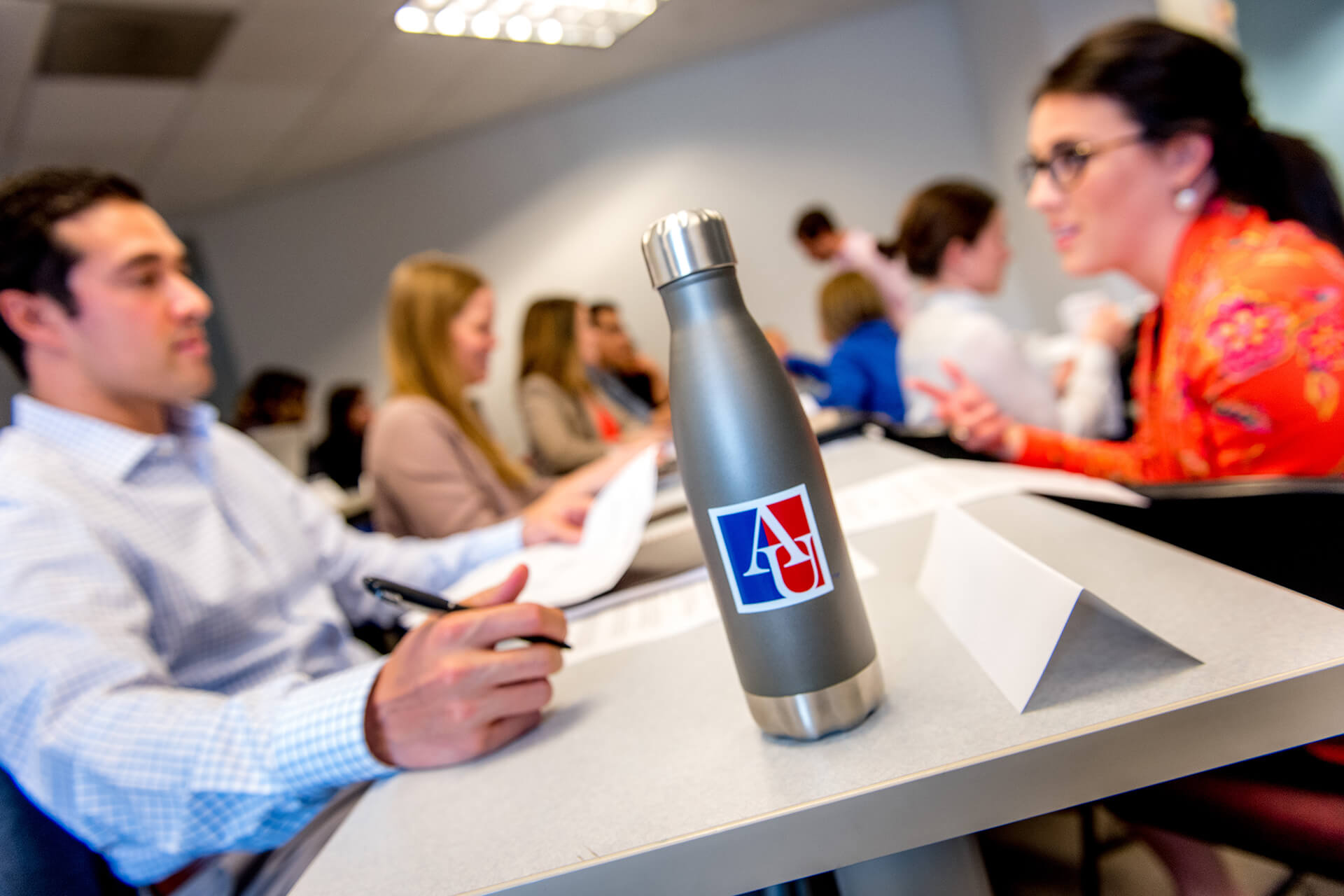 Graduate students discuss AU's academic opportunities.