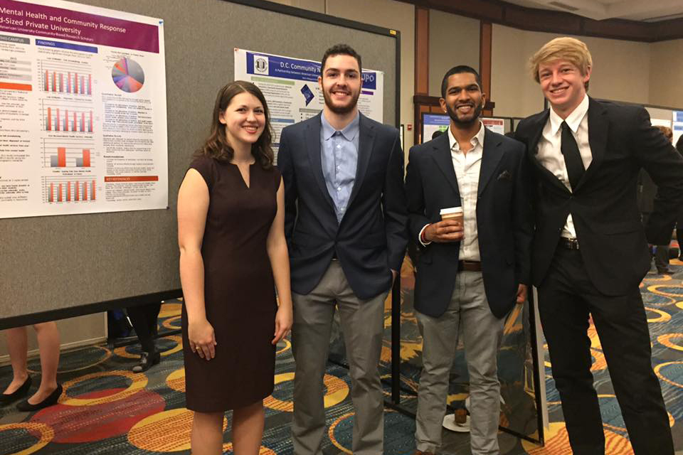 CBRS students present their research posters at the 2016 ARNOVA conference