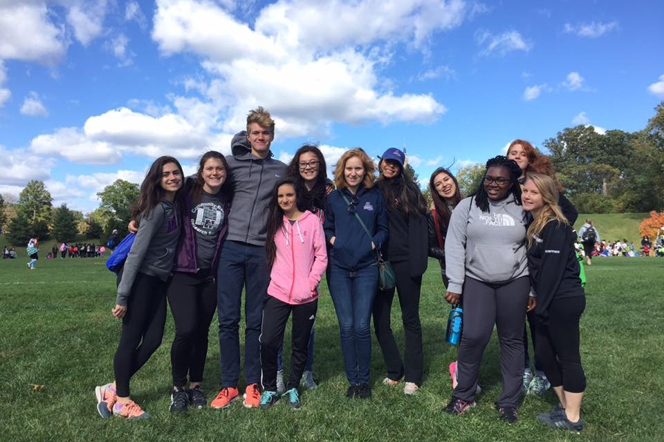 CBRS students volunteering at the 2016 DC SCORE Fall Frenzy event