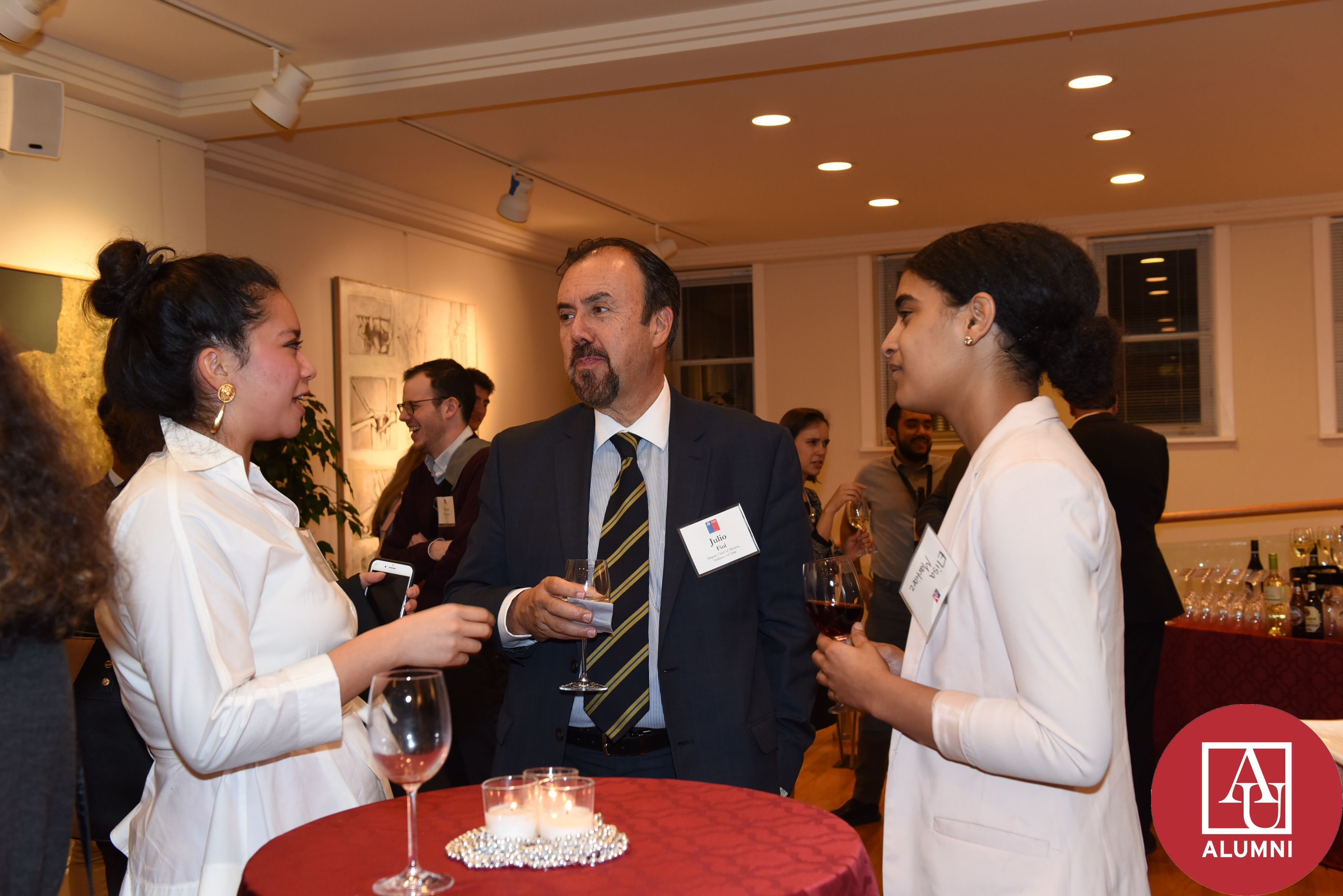 Alumni at Chilean Embassy 2017