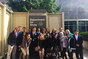 UC students visiting the Dept. of State