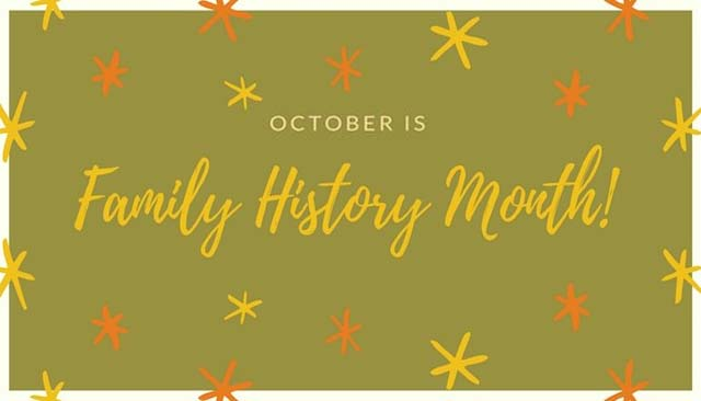 October is Family History month