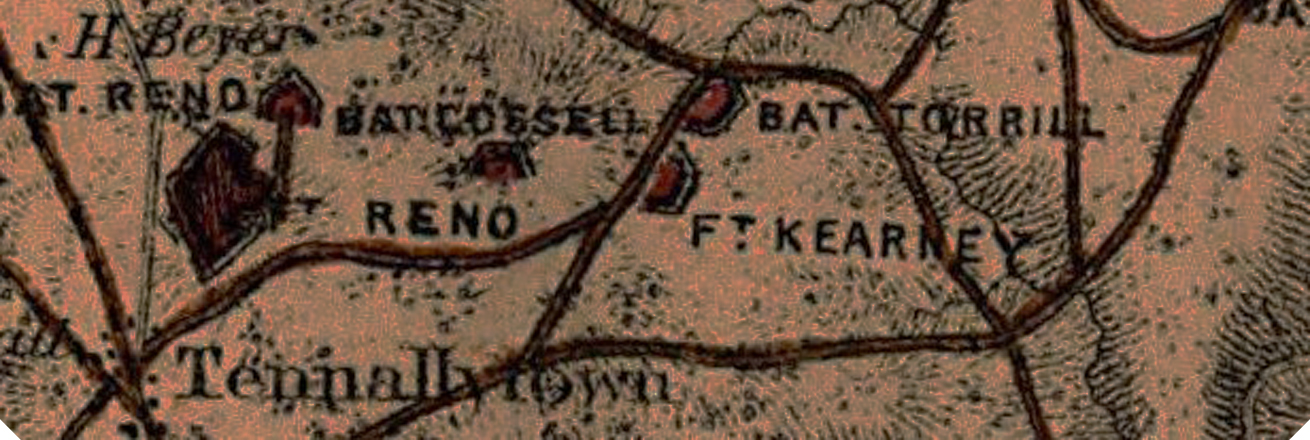 Historic map of Tennallytown and Ft. Kearney