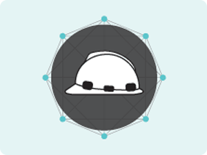 hard hat on grey background
