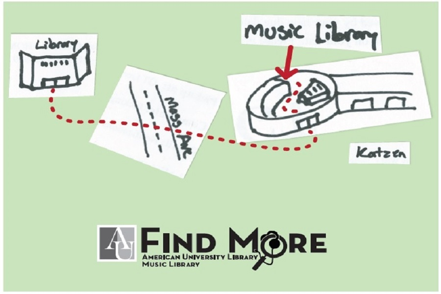Map of the Music Library location