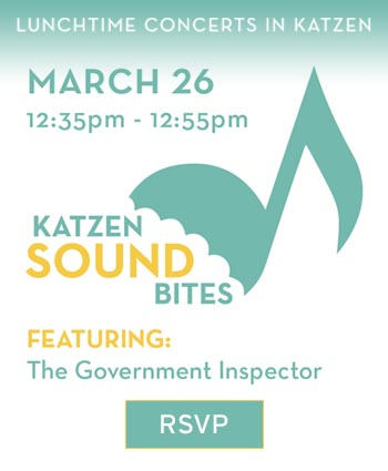 Katzen Soundbites - March 26th from 12:35 to 12:55 featuring The Government Inspector