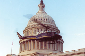 helicopter flying around US capitol