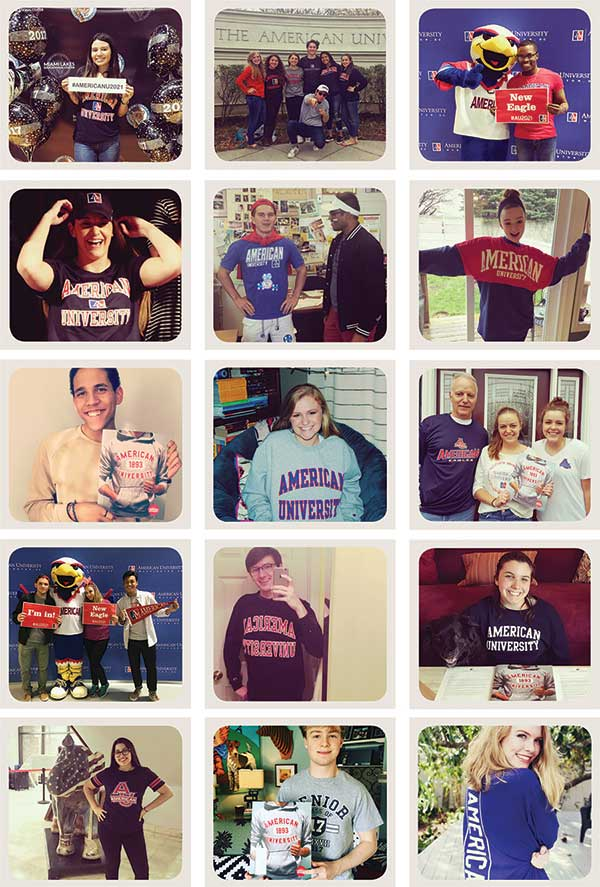 collection of instagram posts from the class of 2021