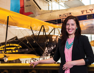 Kristen Horning at the Air and Space Museum