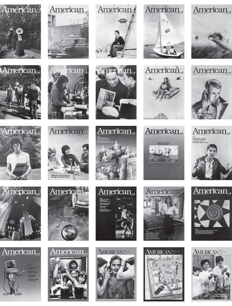 a dozen covers of American magazine, from 1977 to the present