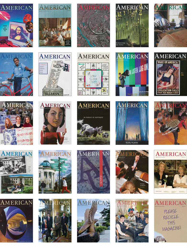a selection of American magazine covers from 1977 to the present