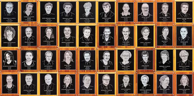 Cassell Hall of Fame Plaques