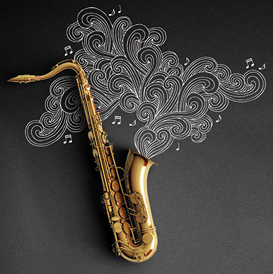 Illustration of a saxophone