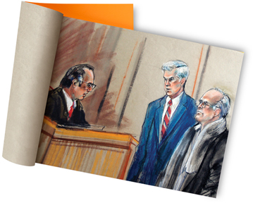Marilyn Church's courtroom illustrations
