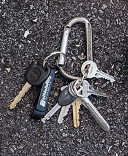 carabiner with multiple keys