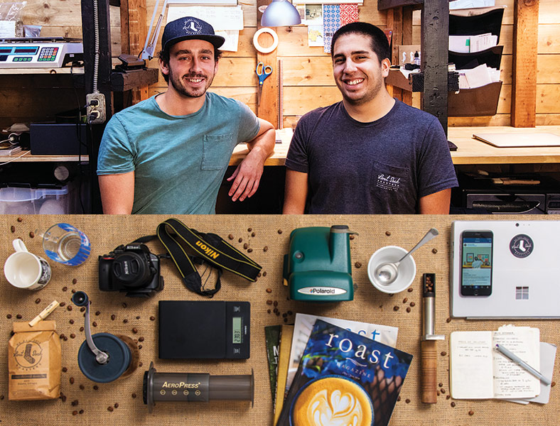 Jeff Yerx and Nicolas Cabrera of Lost Sock Roasters