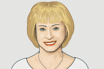 illustration of Kathy Reichs