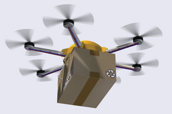 a package delivery drone