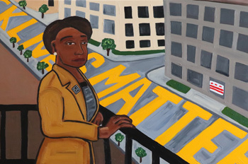 Jessica Owens-Young's painting of DC mayor Muriel Bowser