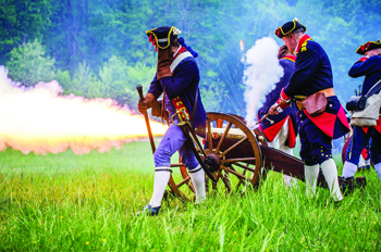reenactors at Mount Vernon's Revolutionary War Days