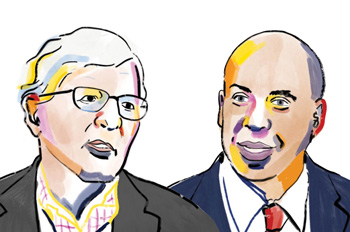 Professor James Thurber and Senator Cory Booker