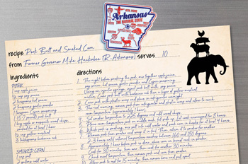 Mike Huckabee recipe card