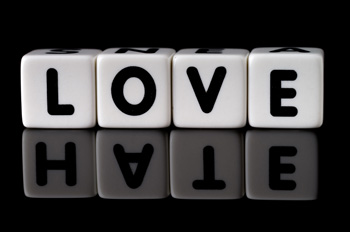 blocks that spell the word love