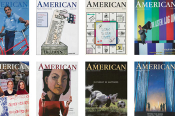 selection of American magazine covers from 1977 to the present